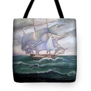Ship Out To Sea Tote Bag