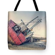 Shipwreck Provincetown Breakwater Tote Bag