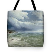 Shipping In Open Seas Tote Bag by David James