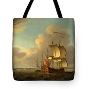 Shipping In The Thames Estuary Tote Bag