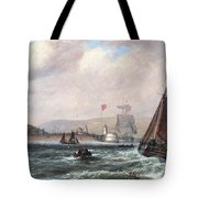 Shipping Off Newhaven Harbour Tote Bag
