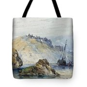 Shipping Off The Coast Of Granville Tote Bag