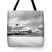 Ships All In A Row Tote Bag