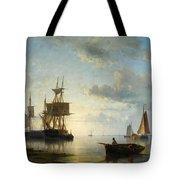 Ships At Dusk Tote Bag