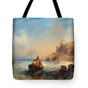 Ships By The Coast Tote Bag