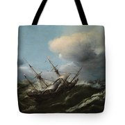 Ships In A Storm Tote Bag