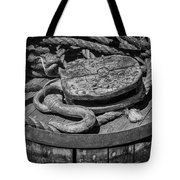 Ships Rope And Pully Tote Bag