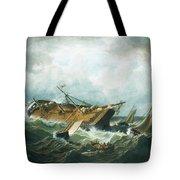 Shipwreck Off Nantucket Tote Bag