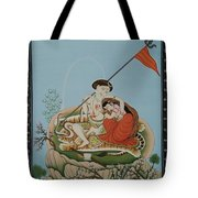 Shiva Romancing With Parvatti. Tote Bag