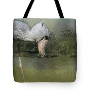Shoebill Looking For Food Tote Bag