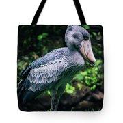 Shoebill Stork Side Portrait Tote Bag