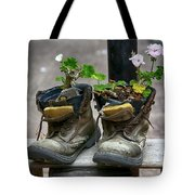 Shoes On A Montevideo Street Tote Bag