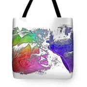 Shoot For The Sky Cool Rainbow 3 Dimensional Tote Bag