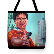 Shoot Out On Ocean Drive Tote Bag