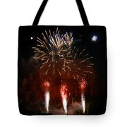 Shooting The Fireworks Tote Bag