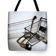 Shopping Cart Reflection Art  Tote Bag