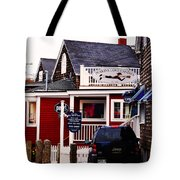 Shopping In Perkins Cove Maine Tote Bag
