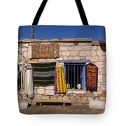 Shopping In Toconao Chile Tote Bag