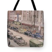 Shopping On Elm St. 1949 Tote Bag
