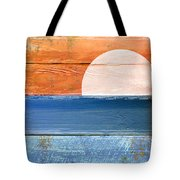 Shore And Sunset Tote Bag