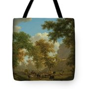 Shore, Pierre-louis Geneva 1753 - 1817 Presinge Lively And Large Trough Path At The Foot Of Cliffs Tote Bag