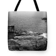 Shoreline And Shipwreck - Portland, Maine Bw Tote Bag