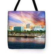 Shoreline Long Beach Ca 09 Tote Bag