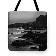 Shoreline - Portland, Maine Bw Tote Bag