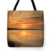 Shoreline Sunset Tote Bag