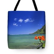 Shorline With Flower Tote Bag