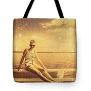 Shorncliffe Pier Pin Up Tote Bag