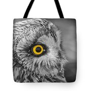 Short-eared Owl Mono Coloured Eye Tote Bag