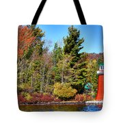 Shoul Point Lighthouse - Old Forge Tote Bag