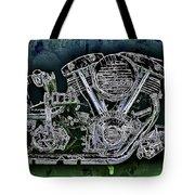 Harley - Davidson Shovelhead Engine Tote Bag by Al Matra
