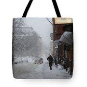 Shoveling Snow Tote Bag