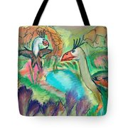 Showdown At The Watering Hole Tote Bag