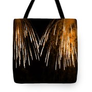 Shower Of Orange Colors Using Pyrotechnics Firework Tote Bag