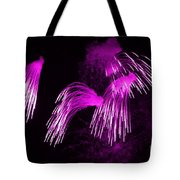 Showers Of Pink Color Splash With Firework  Tote Bag