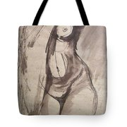 Showing Figure - Sketch Of A Female Nude Tote Bag