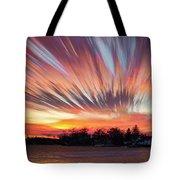 Shredded Sunset Tote Bag