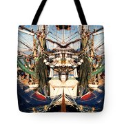 Shrimp Boat Abstract Tote Bag