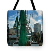 Shrimp Boat Back Tote Bag