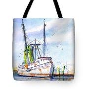 Shrimp Boat Gulf Fishing Tote Bag