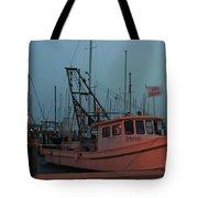 Shrimp Boat Tote Bag by Tony Baca