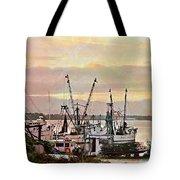 Shrimp Boats Watercolor Tote Bag