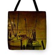 Shrimpboats In Apalachicola  Tote Bag