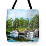 Shrimping Boats Tote Bag