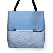 Shrimping In The Open Seas Tote Bag