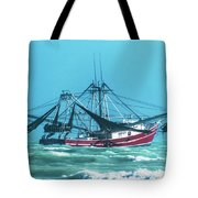 Shrimping On A Windy Day In Key West Tote Bag