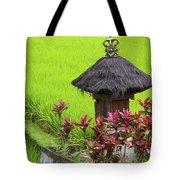 Shrine In Rice Field Tote Bag